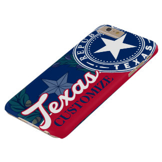 Patriotic Vintage Texas Flag Seal Barely There iPhone 6 Plus Case