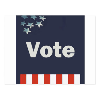 Patriotic Vote Postcard