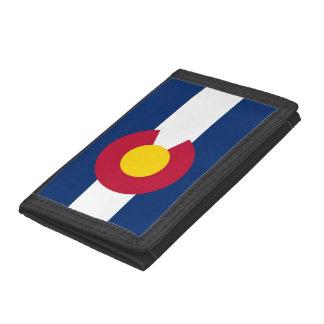 Patriotic wallet with Flag of Colorado
