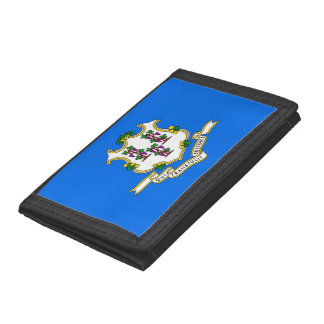 Patriotic wallet with Flag of Connecticut