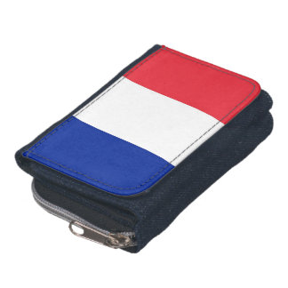 Patriotic wallet with Flag of France