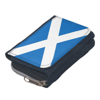 Patriotic wallet with Flag of Scotland