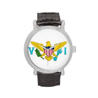 Patriotic watch with Flag of Virgin Islands