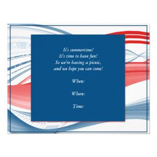 Patriotic Waves Invitation