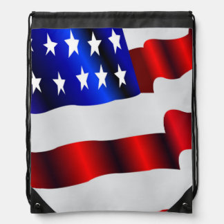 Patriotic waving American flag Backpack