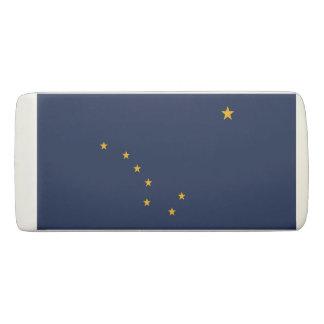 Patriotic Wedge Eraser with flag of Alaska