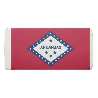 Patriotic Wedge Eraser with flag of Arkansas, USA