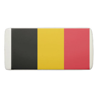 Patriotic Wedge Eraser with flag of Belgium