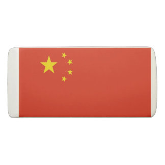 Patriotic Wedge Eraser with flag of China