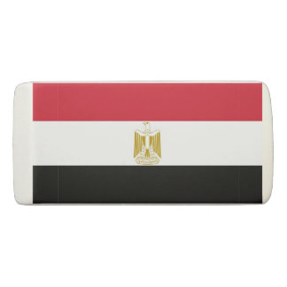 Patriotic Wedge Eraser with flag of Egypt