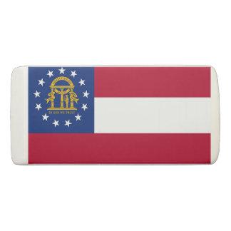 Patriotic Wedge Eraser with flag of Georgia