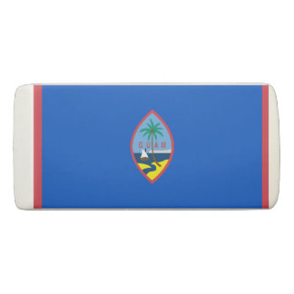 Patriotic Wedge Eraser with flag of Guam