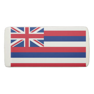 Patriotic Wedge Eraser with flag of Hawaii