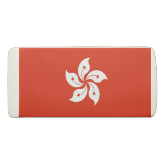 Patriotic Wedge Eraser with flag of Hong Kong