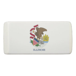 Patriotic Wedge Eraser with flag of Illinois