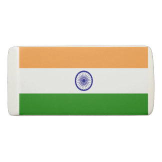 Patriotic Wedge Eraser with flag of India