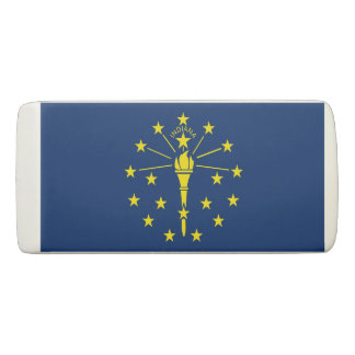 Patriotic Wedge Eraser with flag of Indiana