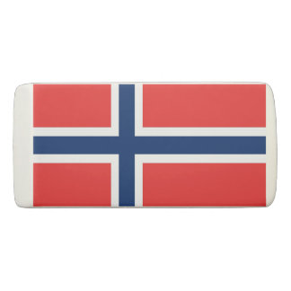 Patriotic Wedge Eraser with flag of Norway