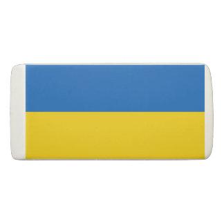 Patriotic Wedge Eraser with flag of Ukraine