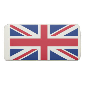 Patriotic Wedge Eraser with flag of United Kingdom