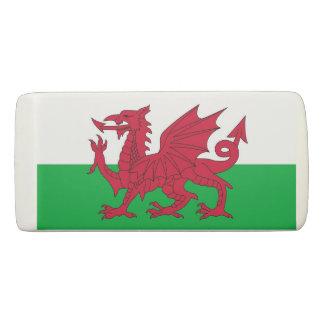 Patriotic Wedge Eraser with flag of Wales