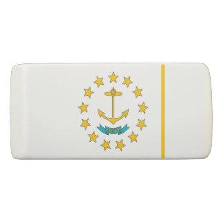 Patriotic Wedge Eraser with flag Rhode Island