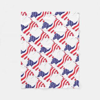 Patriotic-Weiner Fleece Blanket
