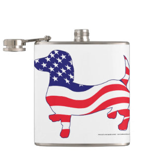 Patriotic-Weiner Hip Flask
