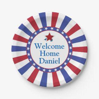 Welcome military home decor pets products for Patriotic welcome home decorations