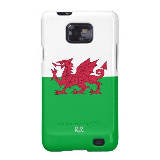 Patriotic Welsh Flag Design on Samsung Galaxy Case Galaxy S2 Cases