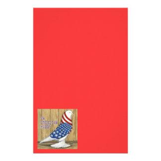 Patriotic West Pigeon Stationery Paper