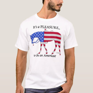 Patriotic Western Pleasure Horse T-Shirt