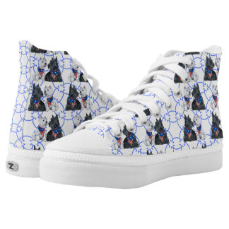 Patriotic Westie and Scottie Dogs High Tops
