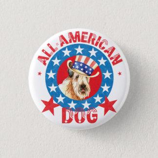 Patriotic Wheaten 3 Cm Round Badge