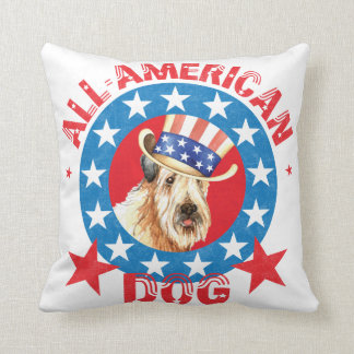 Patriotic Wheaten Cushion