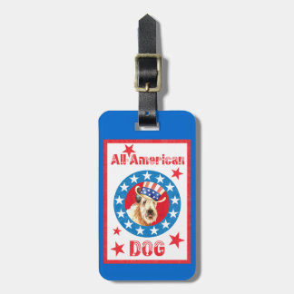 Patriotic Wheaten Luggage Tag