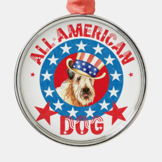 Patriotic Wheaten Metal Ornament