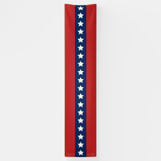 Patriotic White Stars and Blue and Red Stripes