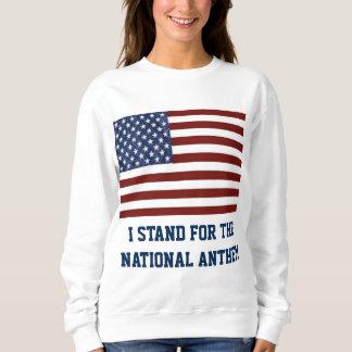 Patriotic Woman's Sweatshirt with American Flag