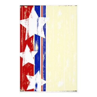 Patriotic Wood Stationary Custom Stationery