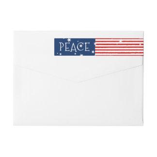 Patriotic Wraparound Holiday Address Labels Wraparound Return Address Label