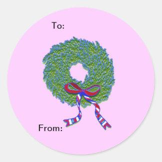 Patriotic Wreath Sticker