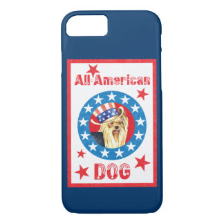 Patriotic Yorkie iPhone 7 Case