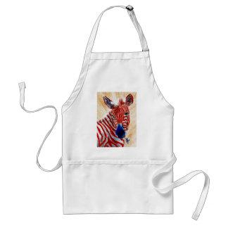 Patriotic Zebra Apron