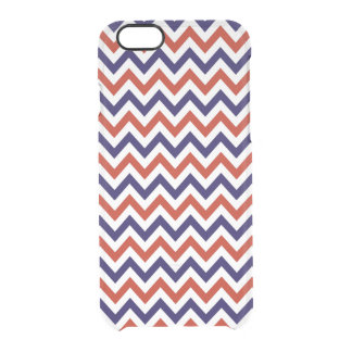 Patriotic Zigs & Zags Clear iPhone 6/6S Case