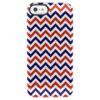 Patriotic Zigs & Zags Clear iPhone SE/5/5s Case