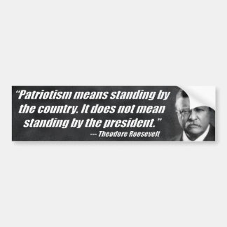 Patriotism Means Standing By The Country Bumper Sticker