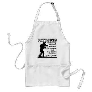 Patriots Protecting Complainers, Whiners, Cowards Standard Apron