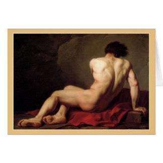Patroclus by Jacques Louis David Note Card