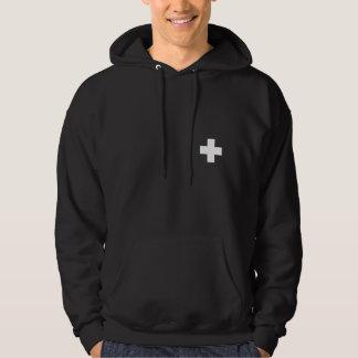 """Patrol - White Cross Hoodie 2 (with """"Patrol'"""")"""